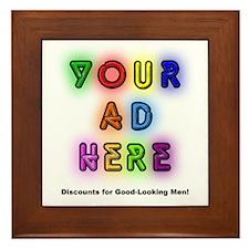 """""""Ads for Men"""" Framed Tile"""