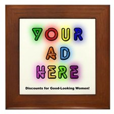 """""""Ads for Women"""" Framed Tile"""
