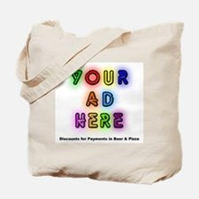 """""""Ads for Beer & Pizza"""" Tote Bag"""