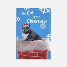 Santa Cat Rectangle Magnet