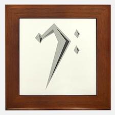 Bass Clef Framed Tile