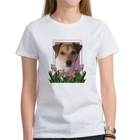 Mothers Day - Pink Tulips Women's T-Shirt