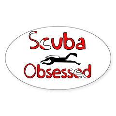 Scuba Obsessed Sticker (Oval)