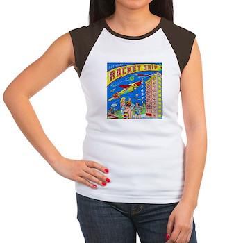 """Gottlieb® """"Rocket Ship"""" Women's Cap Sleeve T-S"""