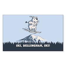 Ski, Bellingham, Ski! Decal