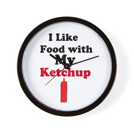 Ketchup Humor 1 Wall Clock