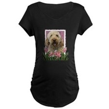 Mothers Day GoldenDoodle Pink Tulips T-Shirt