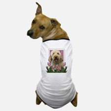 Mothers Day GoldenDoodle Pink Tulips Dog T-Shirt