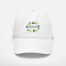 Nurse Shamrock Oval Baseball Baseball Cap