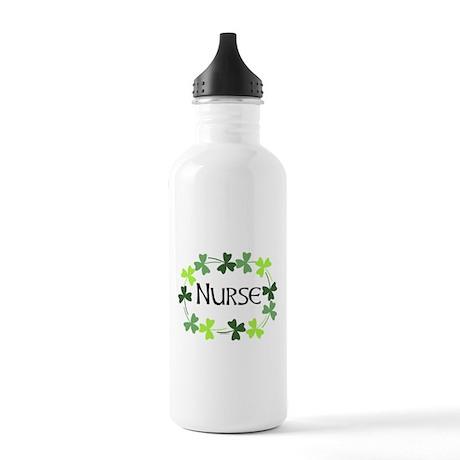 Nurse Shamrock Oval Stainless Water Bottle 1.0L