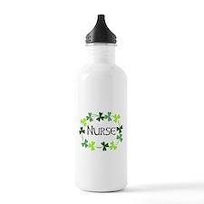 Nurse Shamrock Oval Water Bottle