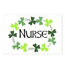 Nurse Shamrock Oval Postcards (Package of 8)