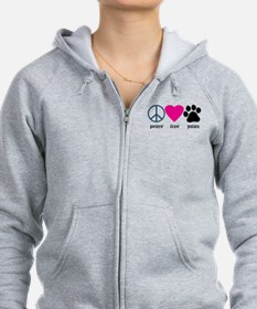 Peace Love Paws Zipped Hoody