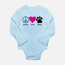 Peace Love Paws Baby Suit