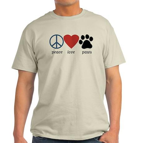 Peace Love Paws Light T-Shirt