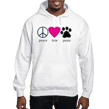 Peace Love Paws Jumper Hoodie