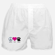 Peace Love Paws Boxer Shorts