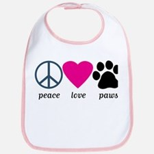 Peace Love Paws Bib