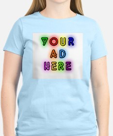 """Your Ad Here"" Women's Pink T-Shirt"
