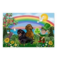 St Patricks Day Dachshunds Postcards (Package of 8