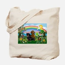 St Patricks Day Dachshunds Tote Bag