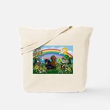 St Patricks Day Dachshunds Tote Bag