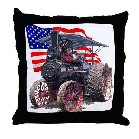 The Advance Steam Traction En Throw Pillow