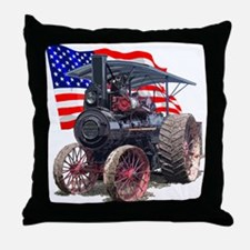 The Advance Steam Traction En Throw Pillow