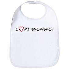 I Love My Snowshoe Bib