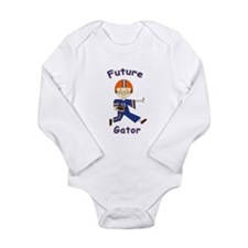 Cute Future gator Long Sleeve Infant Bodysuit