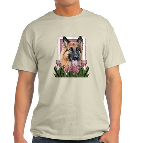 Mothers Day - Pink Tulips Light T-Shirt