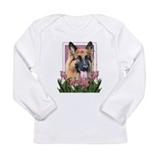 Mothers Day - Pink Tulips Long Sleeve Infant T-Shi