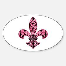 Pink Grunge Fleur Decal