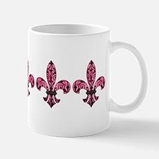 Pink Grunge Fleur Mug