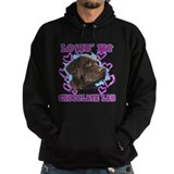 Chocolate lab Dark Hoodies