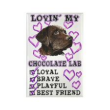Chocolate Lab Lovin' Rectangle Magnet