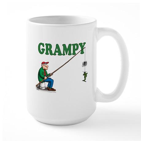 Fishing Grampy Large Mug