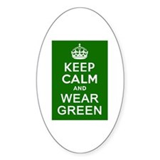 Keep Calm and Wear Green Decal