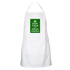 Keep Calm and Wear Green Apron