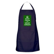Keep Calm and Wear Green Apron (dark)