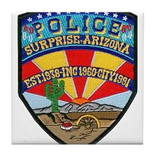 Surprise Police Tile Coaster