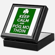 Keep Calm and Pog Mo Thoin Keepsake Box