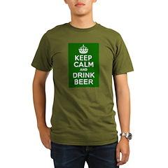 Keep Calm and Drink Beer Organic Men's T-Shirt (da