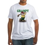 Golfer Grampy Fitted T-Shirt