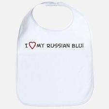 I Love My Russian Blue Bib