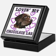 Chocolate Lab Lovin' Keepsake Box