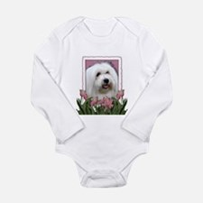 Mothers Day - Pink Tulips Long Sleeve Infant Bodys
