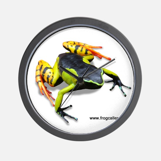 Painted Madagascar Poison Fro Wall Clock