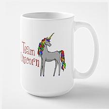 Team Unicorn Rainbow Large Mug