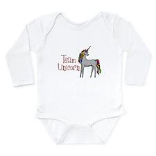 Team Unicorn Rainbow Long Sleeve Infant Bodysuit